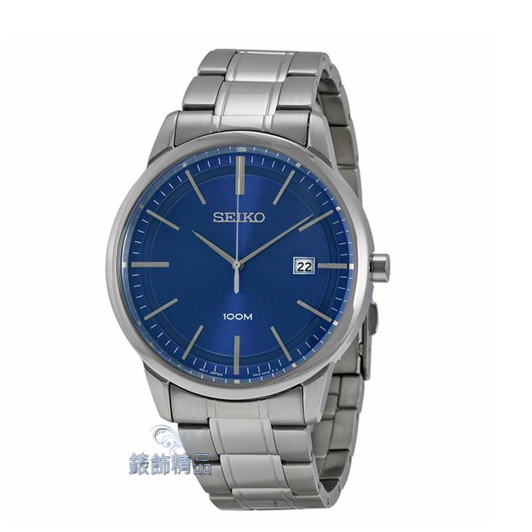 【錶飾精品】SEIKO手錶 精工表 經典時尚 藍面日期 防水 鋼帶男錶 SGEH15 全新正品 SGEH15P1