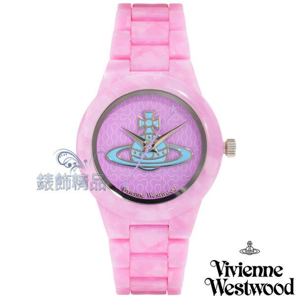 【錶飾精品】Vivienne Westwood 英倫時尚腕錶 手錶 星球 粉紅色錶帶VV075PPPP 原廠正品 禮物