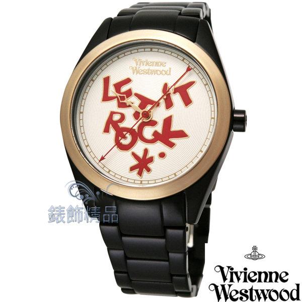 【錶飾精品】Vivienne Westwood 英倫時尚腕錶 LET IT ROCK 黑色超輕鋁合金錶帶VV072GDBK原廠正品 禮物