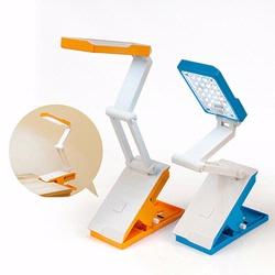 【迪特軍3C】AIBO USB LED 桌夾式可充電折疊檯燈-藍色/橘色 (USB-39)