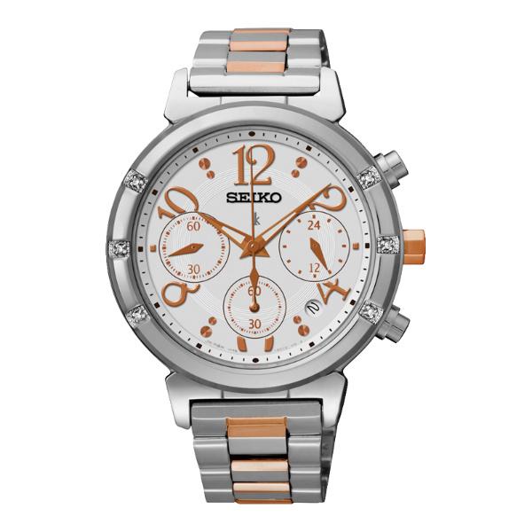 Seiko Lukia V175-0CR0KS(SSC873J1)溫暖動人太陽能計時腕錶/白面36mm