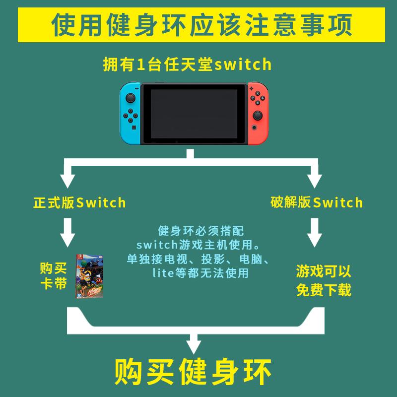 switch國產健身環大冒險全套配件 二代健身環+腿部固定帶