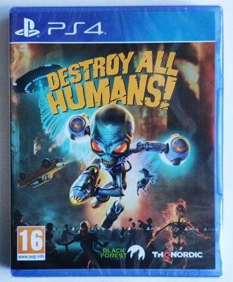 PS4 遊戲 毀滅全人類 Destroy all Humans! 英文中文 FPS射擊