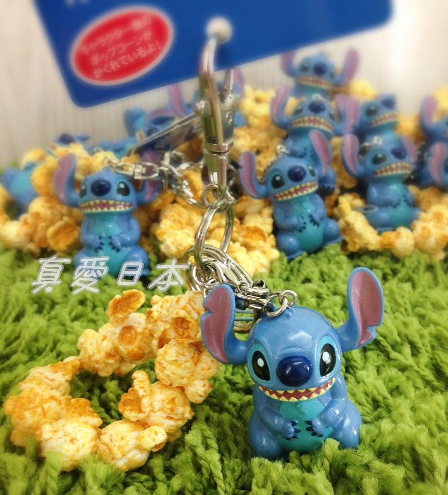 【真愛日本】16082600023 樂園限定鎖圈-爆米花筒史迪奇  迪士尼帶回 鑰匙圈 鎖圈 吊飾