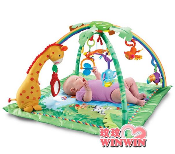 美國費雪牌(FisherPrice)K4562 熱帶雨林健身器 ~ 讓寶貝從遊戲中享受玩樂的過程進而學習成長
