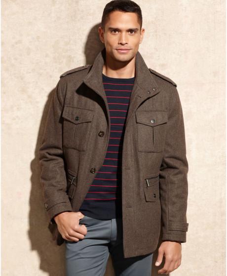 [美國精品櫥窗]Michael Kors Breckenridge Woolblend Field Coat正品 羊毛 型男精品大衣外套(S)