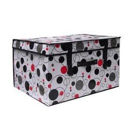 衣物收納箱複膜 有蓋盒儲物箱整理箱儲存箱(特大號60*40*30cm )-7201008