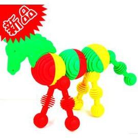 兒童益智玩具 軟體動物塑膠積木 創意拼插玩具-7701005