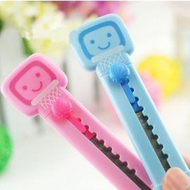 韓版文具 卡通籃球架造型小號美工刀 裁紙刀 可愛小刀(10入裝)-5801003
