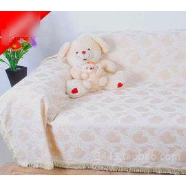 【雪尼爾全蓋布藝沙發巾雙人座180x280cm紅蝴蝶】 皮沙發套沙發罩沙發布 定做 加厚防滑-7101008