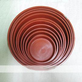 【圓形花盆底碟Z120】塑膠托盤5個一組(可混合) 底徑9.5*1.8cm-5101002