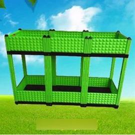 【立體組合種植箱-1排3聯2層-40*120*78cm-1套/組】PP環保塑膠 屋頂陽臺種菜盆 種菜花架-5101024