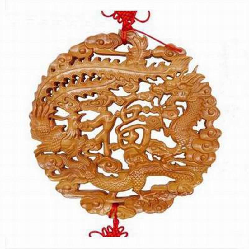 【桃木龍鳳鏡-無框龍鳳-盤徑29cm-1款/組】肥城天然桃木龍鳳鏡和合鏡龍鳳呈祥擺件木雕掛件家庭和睦兩款可選-30041