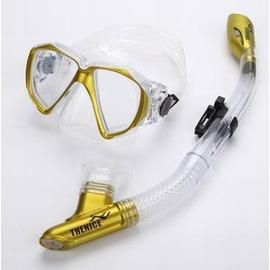 【浮潛近視套裝-面鏡(近視)+呼吸管-THENICE-1套/組】浮潛三寶 全乾式呼吸管 防霧面鏡 腳蹼 潛水鏡 裝備(近視面鏡度數請備註)-76003