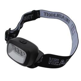 【4LED頭燈-電池款-4個LED-射距8-15米-1套/組】超輕迷你野營頭燈 3種照明模式 夜行看書露營 使用3節電池(不含電池)-76012