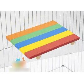 【跳板-天然杉木-五彩-RJ162-321802】五彩小寵物跳板 跳臺 踏板 站板 龍貓兔子天竺鼠層板-79023