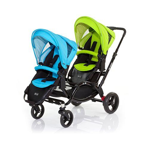 ★衛立兒生活館★德國 ABC Design ZOOM雙人推車/嬰兒手推車-天空藍綠【好禮二選一】
