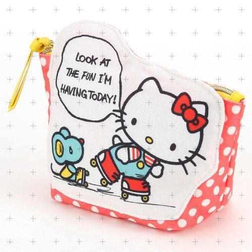 日本直送 Sanrio 三麗鷗 Hello Kitty 凱蒂貓 / 美樂蒂 My Melody 水玉風格 化妝包 收納包