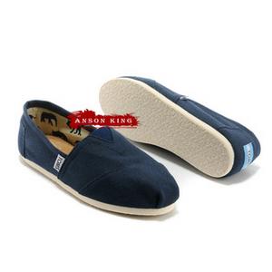 [女款] 國外代購TOMS 帆布鞋/懶人鞋/休閒鞋/至尊鞋 帆布系列 深藍