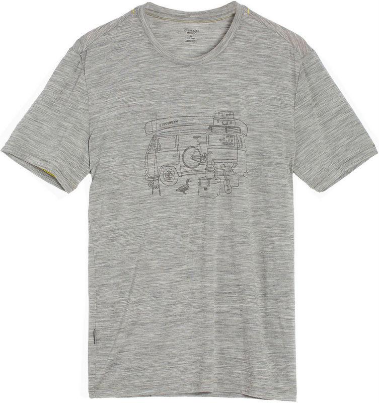Icebreaker 排汗衣/短袖T恤/美麗諾羊毛 Tech Lite 男圓領短袖上衣103279-002 露營車灰