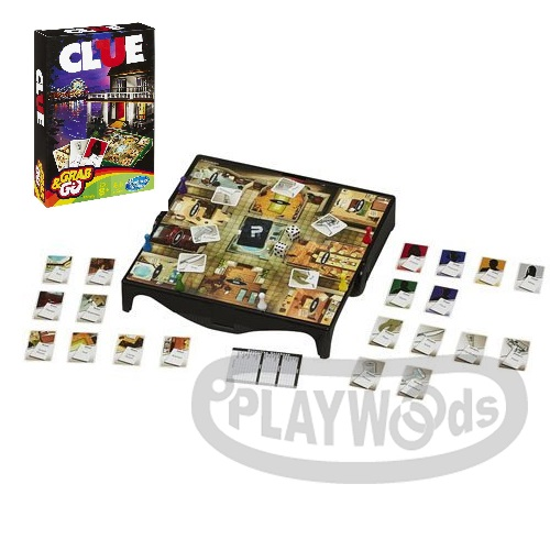 【Playwoods】[MB智樂遊戲]妙探尋兇 隨身包Cluedo:Grab&Go(附英文說明書/經典豪宅緝凶遊戲/紙牌遊戲/益智桌遊/家庭娛樂/推理/福爾摩斯/偵探/孩之寶Hasbro)