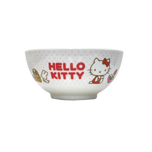 【真愛日本】9070900005 凱蒂貓小餐碗-烹飪 三麗鷗 Hello kitty家族 兒童餐具 塑膠碗 正品