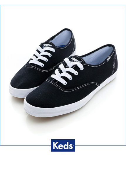 Keds 品牌經典帆布鞋-黑色