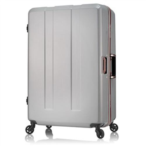 日本 LEGEND WALKER 6703-64-26吋 電子秤鋁框輕量行李箱 碳纖白