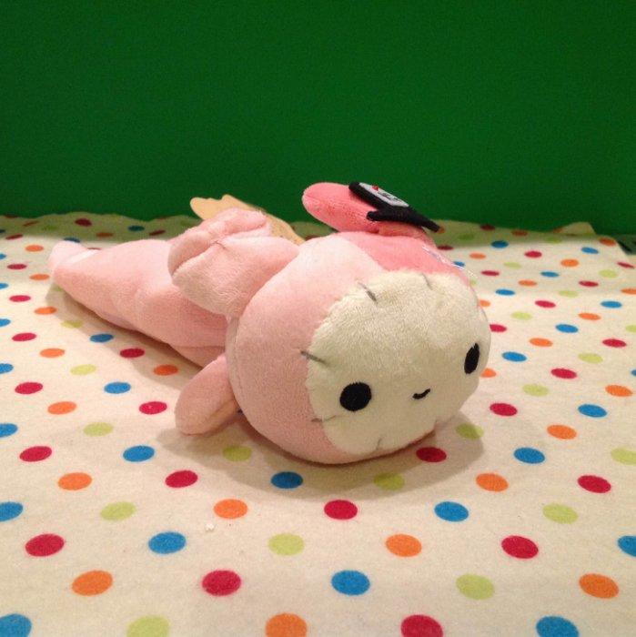 =優生活=憂傷馬戲團絨毛筆袋 憂憂兔 兔子團長 薄荷象 文具收納 收納袋 化妝包 趴型筆袋