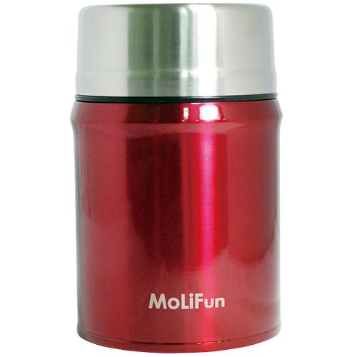 ★衛立兒生活館★MoliFun 魔力坊 316不鏽鋼輕量真空保鮮保溫悶燒食物罐/悶燒杯800ml-玫瑰紅