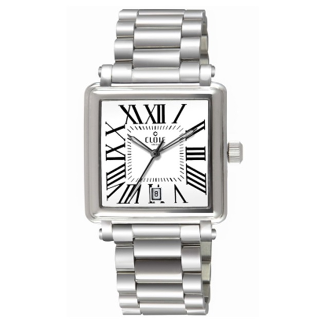 CLOIE 羅馬帝國不鏽鋼時尚腕錶-白/36mm CL10335-DA20