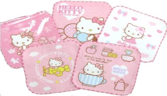 【真愛日本】16031500031 印花方巾-KT多款 KITTY 凱蒂貓 三麗鷗 小方巾 手帕 小毛巾 生活用品
