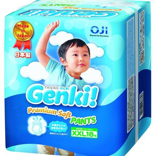 ★衛立兒生活館★日本境內 王子 Genki! 元氣褲(紙尿布)-XXL18片(6包箱購)