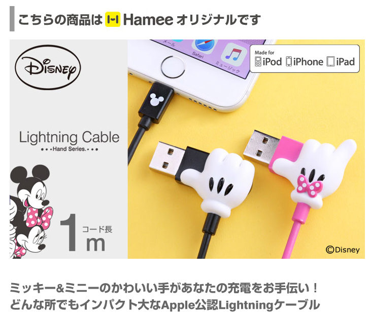 日本直送 Disney Mickey 米奇 / Minnie 米妮iPad / iPad mini / iPhone / iPod 對應 充電線