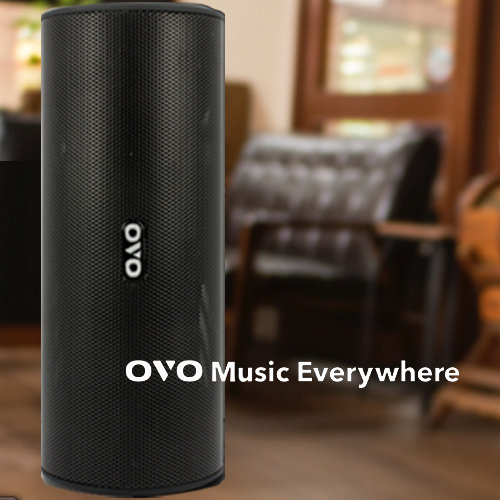 OVO Music Everywhere 音樂隨行杯 藍牙喇叭(黑色) 買就送雙層不銹鋼保溫飯盒