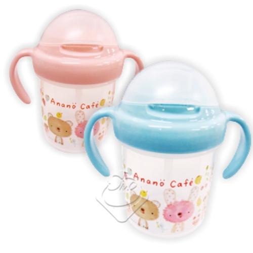【日本製】anano cafe 吸管學習杯(藍/粉)/吸管杯/學習杯/baby/anano cafe╭。☆║.Omo Omo go物趣.║☆。╮