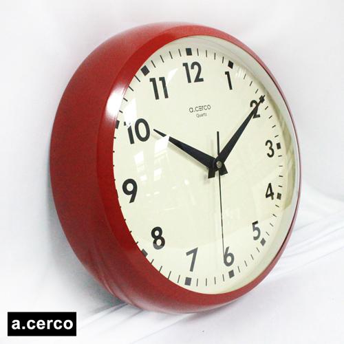 【a.cerco】 普普風經典造型時鐘(紅色)