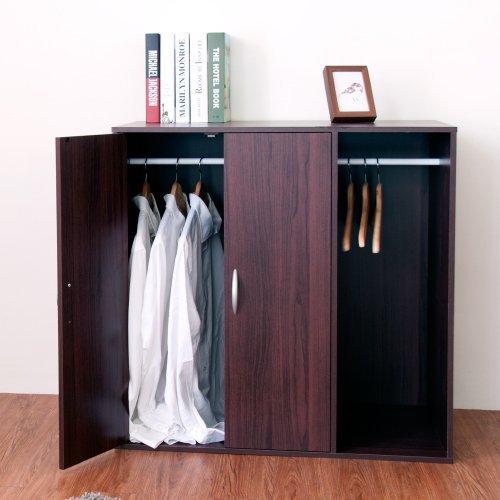 生活大發現-H-二門一格組合式衣櫃(胡桃木)衣櫃/衣櫥/收納/台灣製造