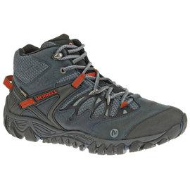 零碼特價 Merrell 防水透氣越野健行鞋 ALLOUT BLAZE MID GORE-TEX 男 ML21251 藍灰色