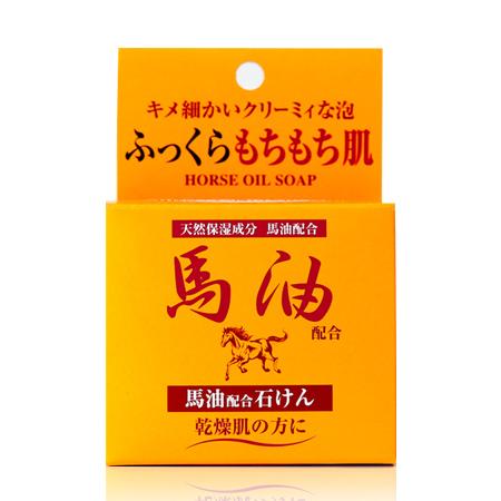 日本 Jun-Cosmetic 馬油潤膚乳霜皂 100g 馬油皂【N201598】