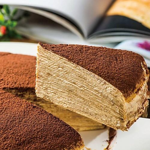提拉米蘇千層蛋糕 8吋 30層【繁花手作甜品工作坊】