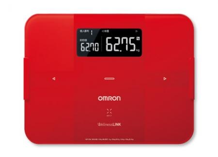 OMRON歐姆龍體脂肪計 HBF-254C(紅色),加贈歐姆龍計步器HJ325,運動毛巾及專用提袋