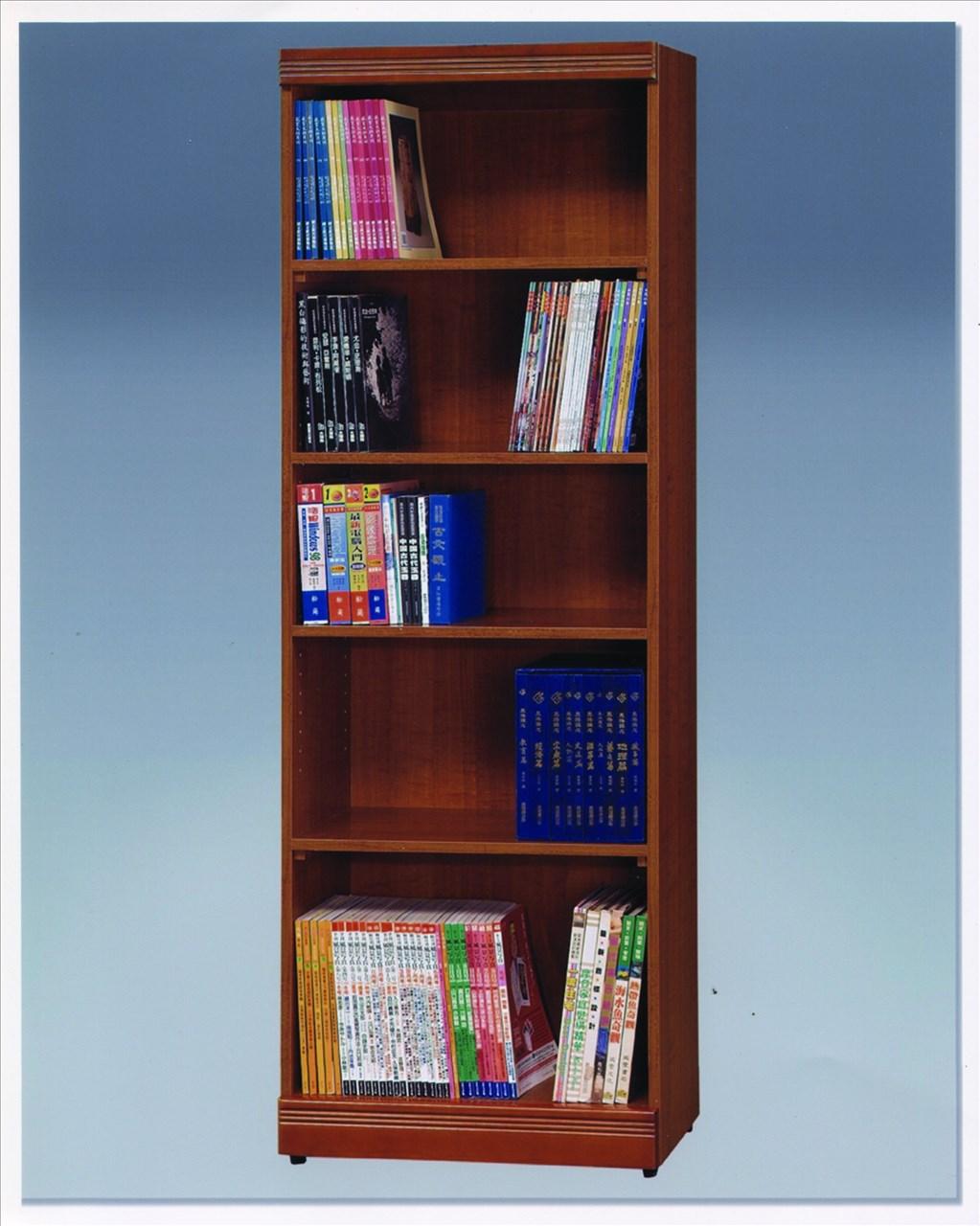【石川家居】OU-725-4 柚木色2*6尺開放書架 (不含其他商品) 需搭配車趟