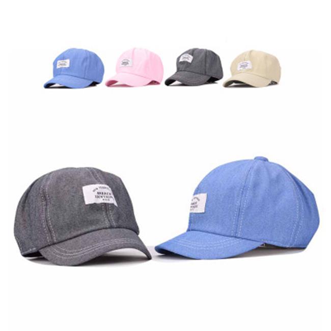50%OFF【E013979H】夏季新款棒球帽男韓版女字母貼布彎簷嘻哈街舞鴨舌帽青年潮帽