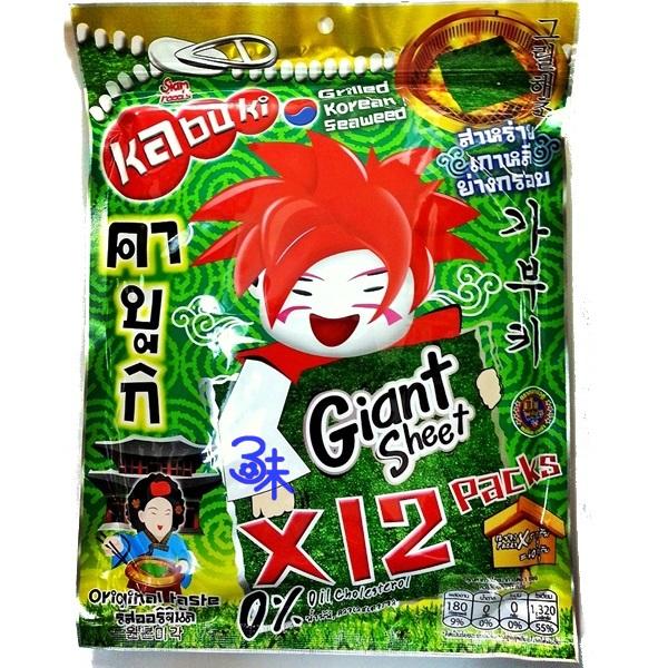 (泰國) kabuki 味覺百撰 好大片鮮脆脆海苔片 1包 60 公克(12片) 特價 89 元 【8855444003030 】