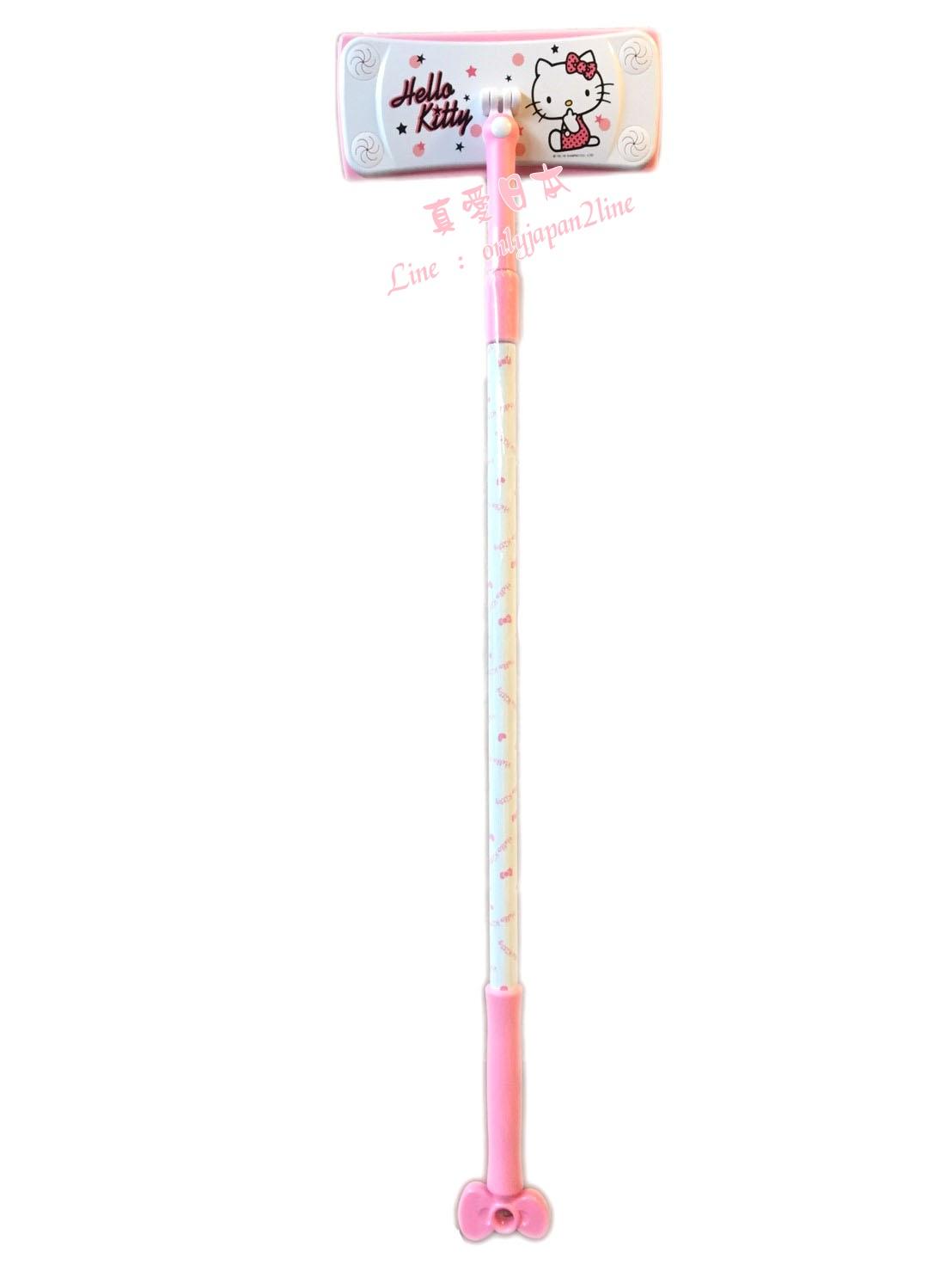 【真愛日本】16080300013靜電除塵拖把-粉 三麗鷗 Hello Kitty 凱蒂貓  居家小幫手 除塵拖