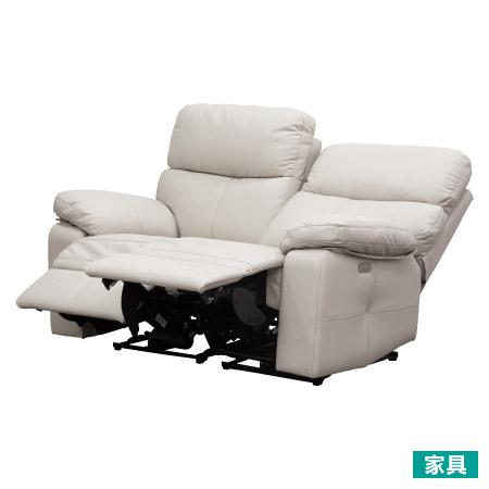 ◎半皮2人用電動可躺沙發 REC1007 BE