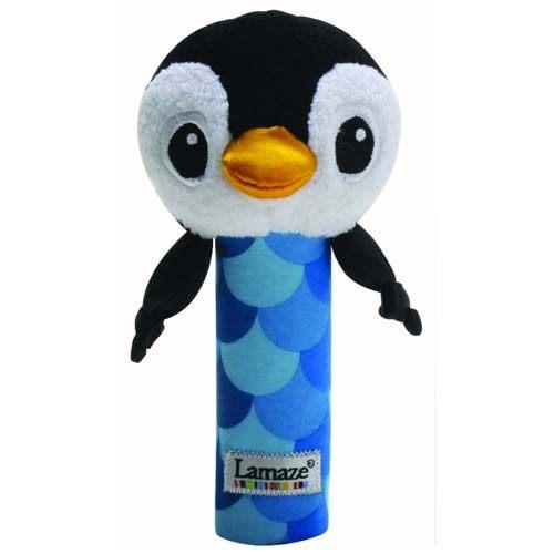 【奇買親子購物網】Lamaze 拉梅茲 嬰幼兒玩具-搖搖棒小企鵝