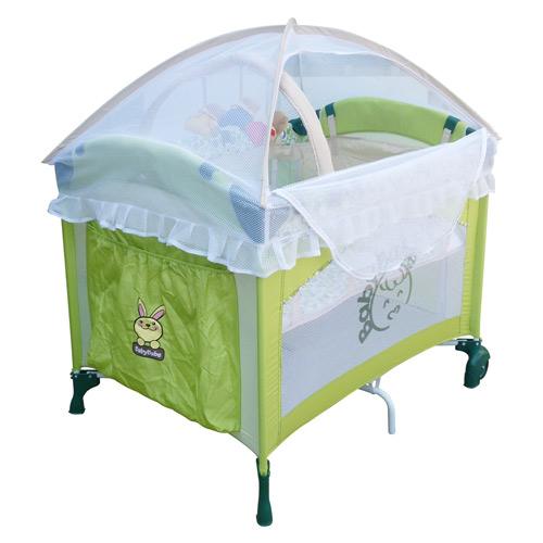 【奇買親子購物網】BabyBabe 拱型遊戲床/半配款(綠色)