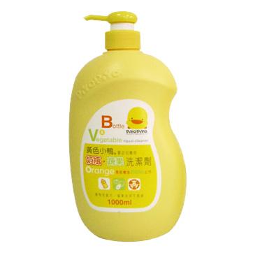 【奇買親子購物網】黃色小鴨 奶瓶蔬果洗潔劑罐裝1000ML(香甜橘油)